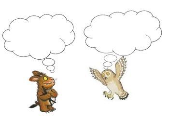 The Gruffalo Speech Bubble and Thinking Bubble Activity