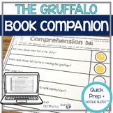 Speech Language and Literacy:  The Gruffalo QUICK PREP Book Companion