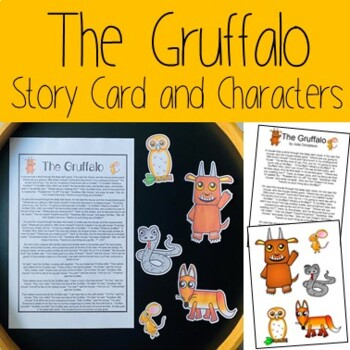 The Gruffalo Story Card and Characters