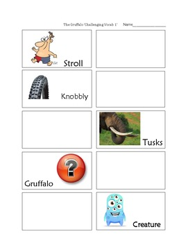 The Gruffalo 'Vocabulary Match-Up'