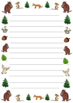The Gruffalo and The Gruffalo's Child Creative Writing Activities and Paper