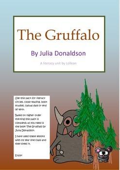 The Gruffalo by Julia Donaldson literacy unit circle comprehension HOT