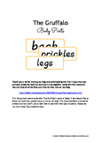 The Gruffalo's  body parts - WORD CARDS