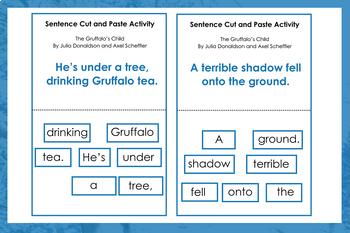 The Gruffalo's Child by Julia Donaldson Sentence Cut and Paste Activity