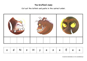 The Gruffalo's body parts - Cut out and paste handout