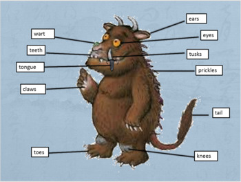 The Gruffalo vocabulary and smart board  teaching activities