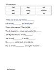 The Gruffalo's Child worksheet