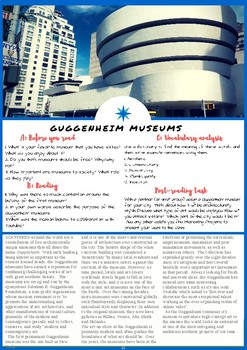 The Guggenheim Museum - ESL Reading, Vocabulary Review & Comprehension