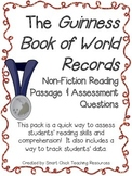 The Guinness Book of World Records ~ A Non-Fiction Reading Assessment Prompt
