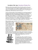 The Gutenberg Printing Press Expository Reading