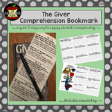 The Giver Comprehension Bookmark
