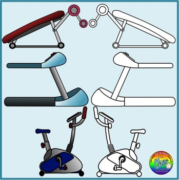 Exercise Clipart (Gym, Workout, Healthy Living)