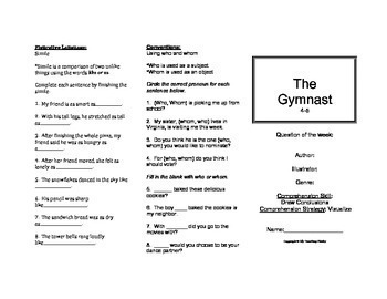 The Gymnast Trifold (Reading Street 2011 Edition)