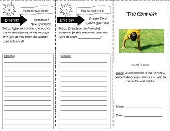 The Gymnast Trifold Reading Street 5th Grade Unit 4 Week 5