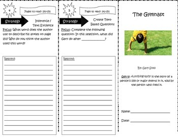 The Gymnast Trifold Reading Street 5th Grade Unit 4 Week 5