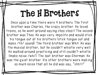 The H Brothers Digraph Story (ch, th, wh, sh)