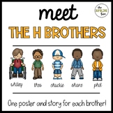 The H Brothers Posters (wh, ch, sh, ph, and th digraph posters)