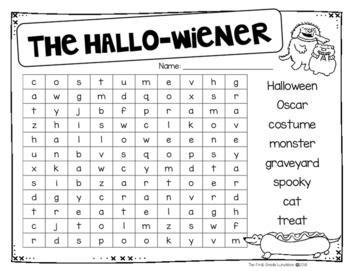 The Hallo-Wiener Comprehension Packet & Craftivity