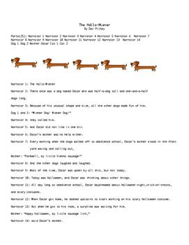 The Hallow-wiener  Reader's Theater Script