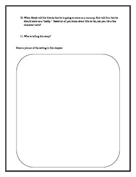 The Halloween From The Black Lagoon Comprehension Packet