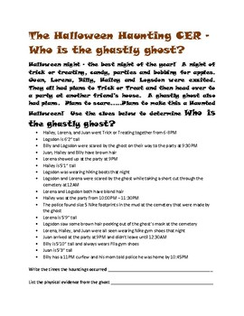 The Halloween Haunting CER - Who is the Ghastly Ghost?