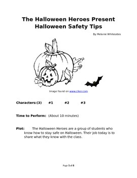 The Halloween Heroes Present Halloween Safety Tips Reader's Theater
