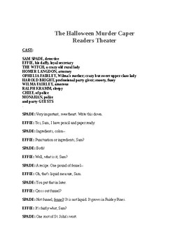 The Halloween Murder Caper - Readers Theater