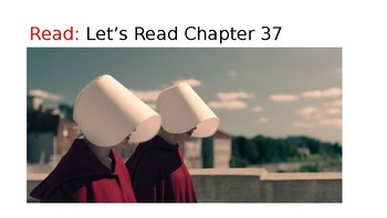 The Handmaid's Tale (19) Chapters 37 and 38