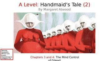 The Handmaid's Tale (2) Chapters 3 and 4