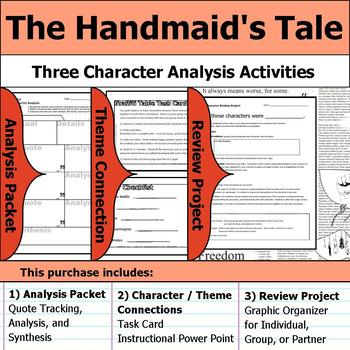 The Handmaid's Tale - Character Analysis Packet, Theme Connections, & Project