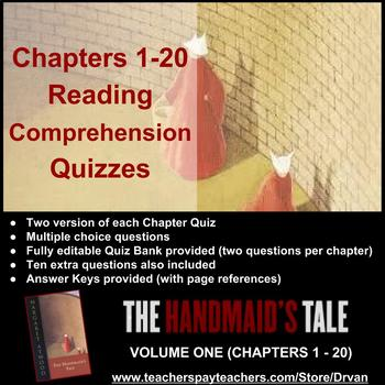 Handmaid's Tale: Reading Quizzes for Comprehension (Volume 1) – Chapters 1-20