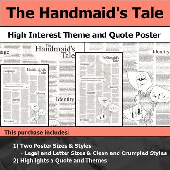 The Handmaid's Tale - Visual Theme and Quote Poster for Bulletin Boards