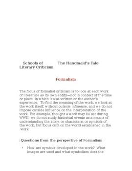 The Handmaid's Tale Unit Plans