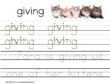 The Handwriting Academy Sight Words