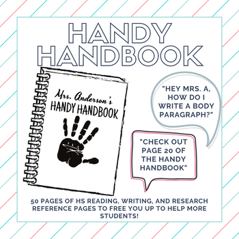 The Handy Handbook: A HS ELA Ultimate Reference Book!