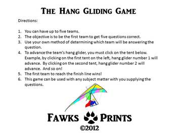 The Hang Gliding Game