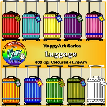 [FREE]Luggage Clipart (Travel) (The HappyArt Series)