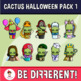The Happy Cactus - Halloween Pack 1 Clipart