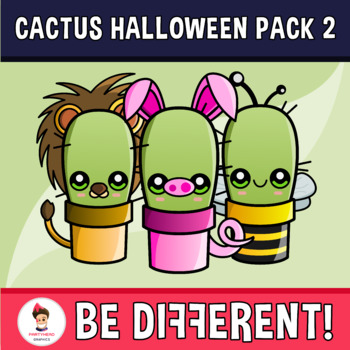 The Happy Cactus - Halloween Pack 2 Clipart