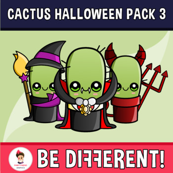 The Happy Cactus - Halloween Pack 3 Clipart