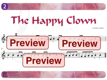 The Happy Clown Flute And Oboe mp3s and pdf Unit 2.