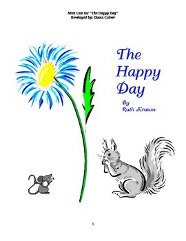 The Happy Day - A Mini Literature Unit