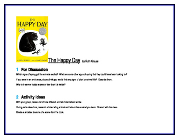 The Happy Day for Guided Reading