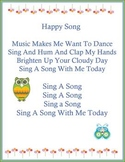 The Happy Song- sing-along with video and lyrics