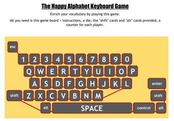 The Happy Alphabet Keyboard Game