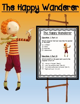 The Happy Wanderer Poem with Accompanying EBSR Comprehension Question Set