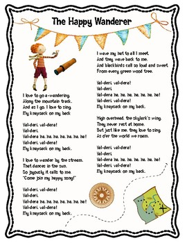 The Happy Wanderer Song and Poem