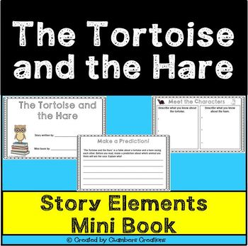 The Tortoise and the Hare 10 Page Mini Flip Book- Aesop's Fables