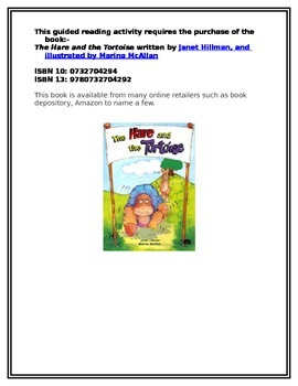 The Hare and The Tortoise guided reading activity