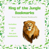 FREE Animal-Themed Lion Bookmarks